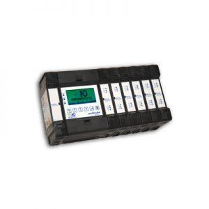 Analizador de red eléctrica modular para el control de hasta 20 sistemas trifásicos o 60 monofásicos. Telecontrol y telegestión.